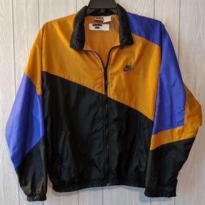 1980's Nike abstract color block wind breaker sz L